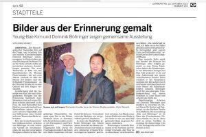 Artikel in der Kölnischen Rundschau zur Ausstellung Kim und Böhringer