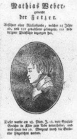 Mathias Weber, Broschüre, Köln 19. 2. 1803, Titelseite