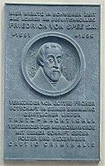 Gedenktafel für Friedrich von Spee, Anwalt der Hexen