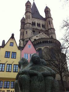 Fischmarktbrunnen von Anno Walk vor Groß St. Martin